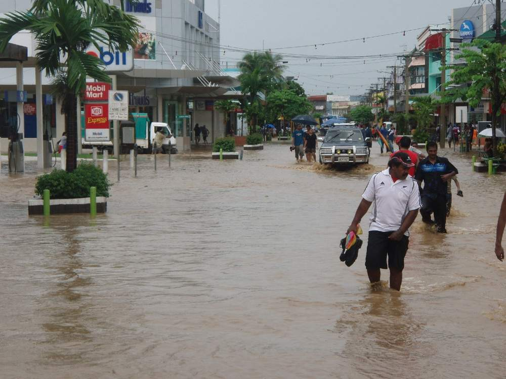 Flooding in Nadi town following Cyclone Winston in February 2016.Photo Courtesy of WikiCommons.