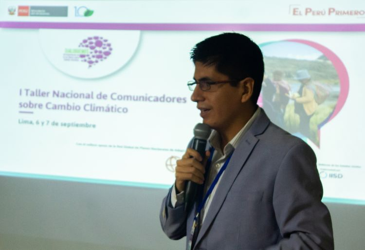 Victor Santillán, communications specialist from the Directorate-General for Climate Change and Desertification at the Peruvian Ministry of the Environment