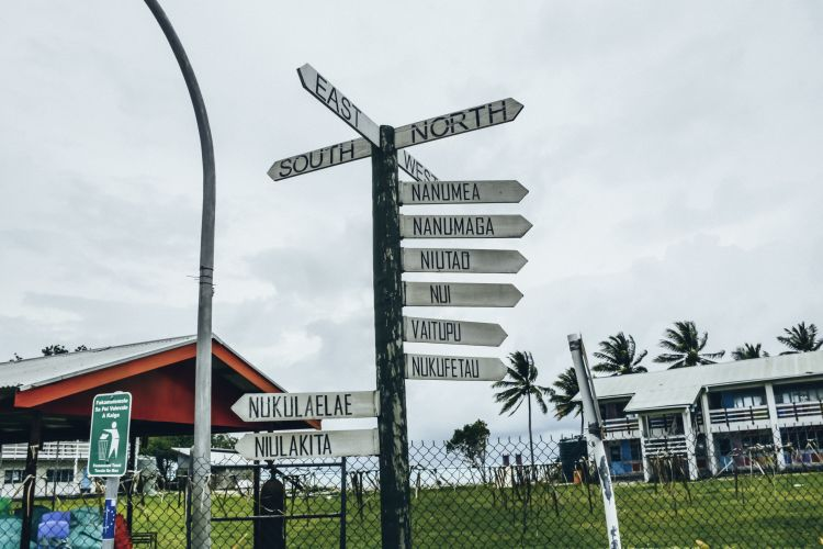 Transit signs in Tuvalu