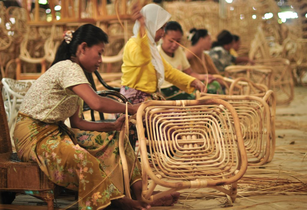 Making Handycraft. Indonesia particularly in Java Island many small medium entreprises making handycraft for both domestic & export market.